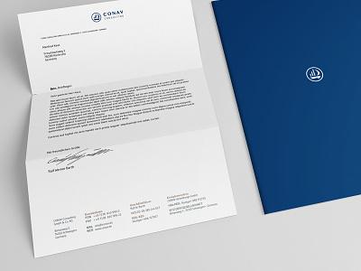 CONAV Consulting, Print Media corporate design cards graphics
