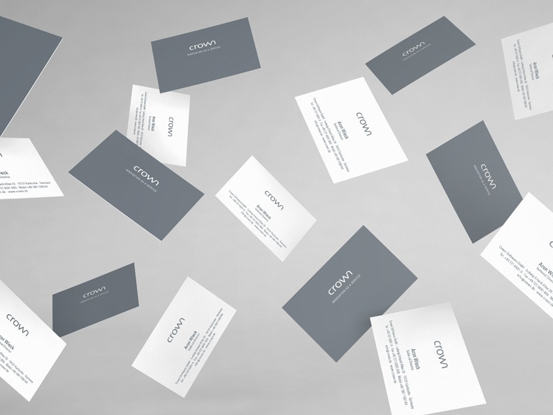 Crown Software, Print Design graphicdesign branding cards