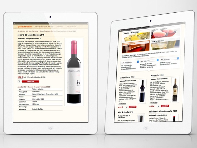 Webdesign for Spaniens Weinwelt wine website ui design frontend design webdesign