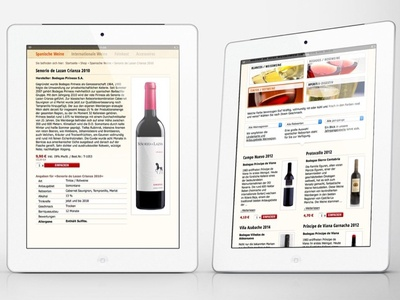Webdesign for Spaniens Weinwelt wine website ui design frontend design webdesign