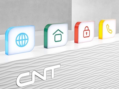 CNT, Icons as Product Visuals no cgi plastic object packshot box voip telecommunication icon