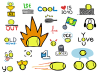 Tennis Ace Stickers