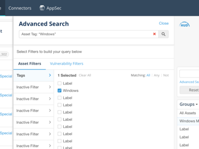 Advanced Search UI Panel