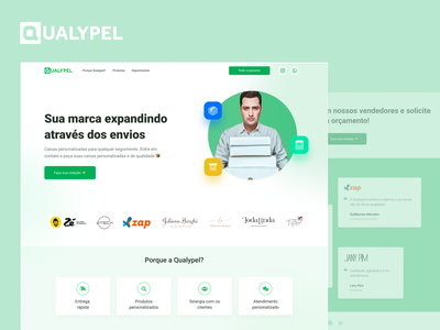 Website Qualypel uidesign website ui design interface ui design