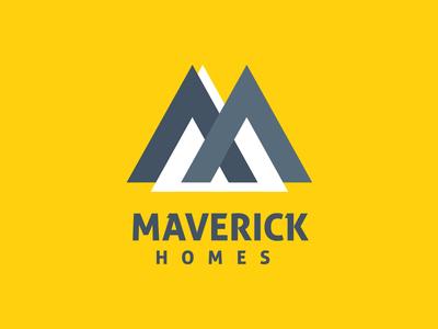 Maverick Homes Logo Design estate agency logo logo design