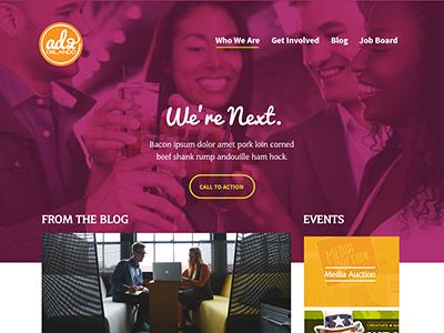 Ad 2 Homepage Retake design web non-profit ui