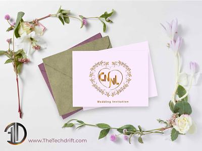 Customized Wedding Logo logo design wedding wedding invitation logodesign logo brand identity wedding logo