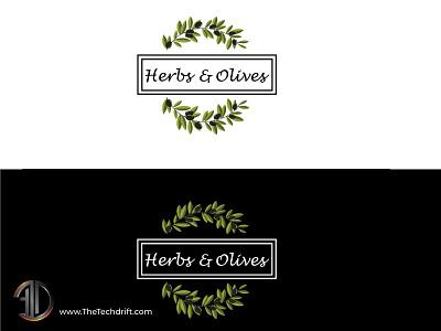 Herbs and Olives - Restaurant Logo restaurant logo restaurant branding brand identity restaurant branding logo thetechdrift logo design logodesign