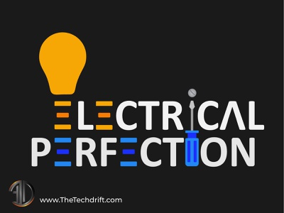 Electrical Perfection LLC - Electrician Logo electrician logo branding emblem logodesign logo brand identity thetechdrift logo design