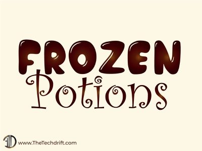 Frozen Potions - Ice Cream and Frozen Desserts emblem thetechdrift logo brand identity design ice cream logo icecream brand logo
