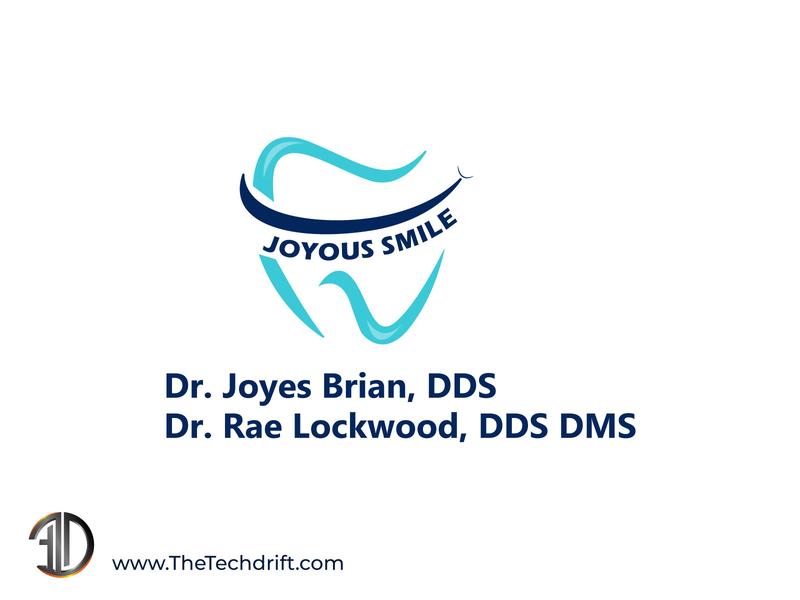 Joyous smile - Dentist Logo Design illustration logodesign emblem thetechdrift dentist logo brand identity logo mark logo design