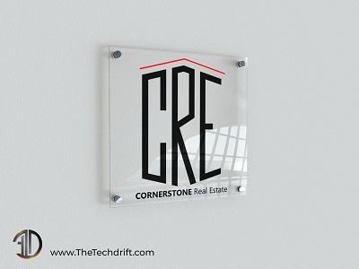 Cornerstone Real Estate Logo design illustration branding emblem brand identity logo design logodesign thetechdrift real estate logo
