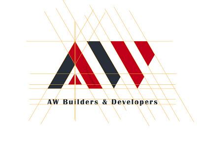 AW Builders and Developers - Brand Identity Design logo branding logodesign emblem brand identity logo design thetechdrift