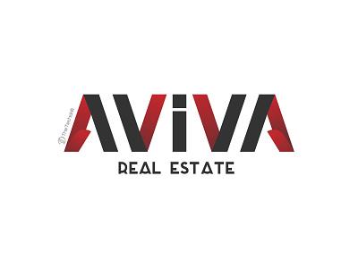 Aviva Real Estate real estate logo branding logodesign thetechdrift brand identity logo design