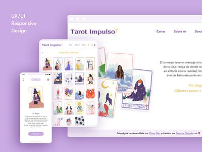 Tarot Impulso magic tarot responsive minimal accessibility project illustration design interface ui design ui ux