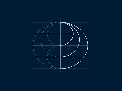 Construction Logo rounded circles geometry construction dark branding brand design logotype logo