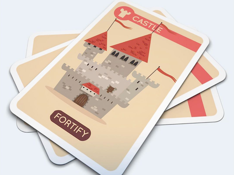 Of Knights and Ninjas Castle ninjas knights family fortify card game medieval fortress castle