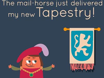 Tapestry Game Parody medieval mail gems merchant tapestry game board game tapestry