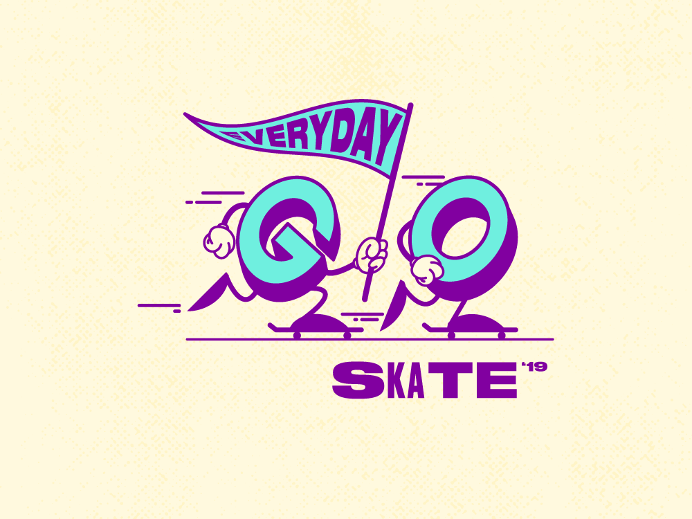 Go Skateboarding Day 2019 type go skateboarding guatemala character vector illustration design gsd19