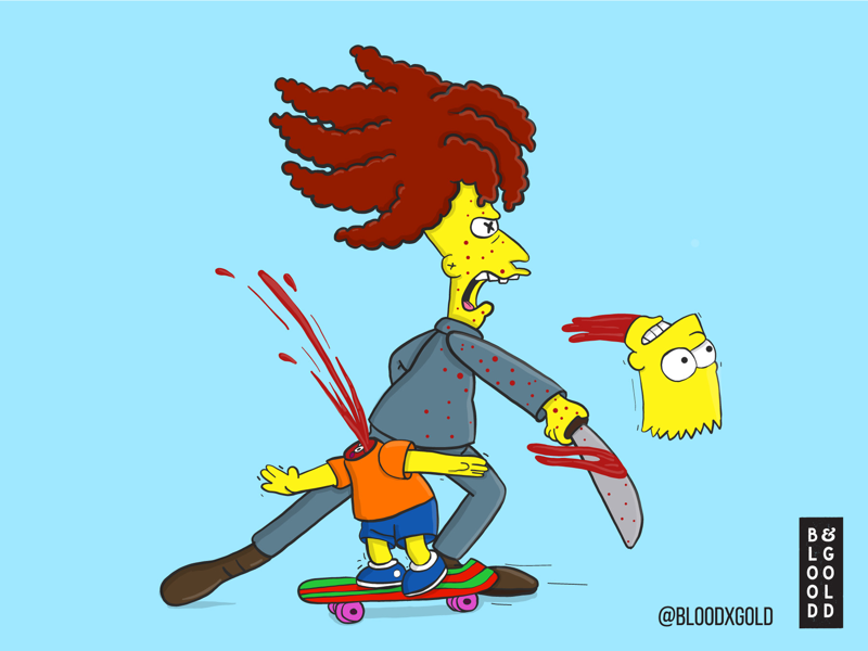 'Attempted Murder?' Now Really, What Is That? sideshow bob bart simpson illustration digital art simpsons