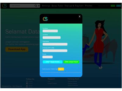 UI Design Login page