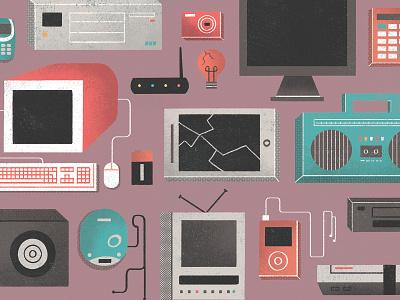 Electronic Garbage garbage electronic photoshop illustration editorial illustration editorial