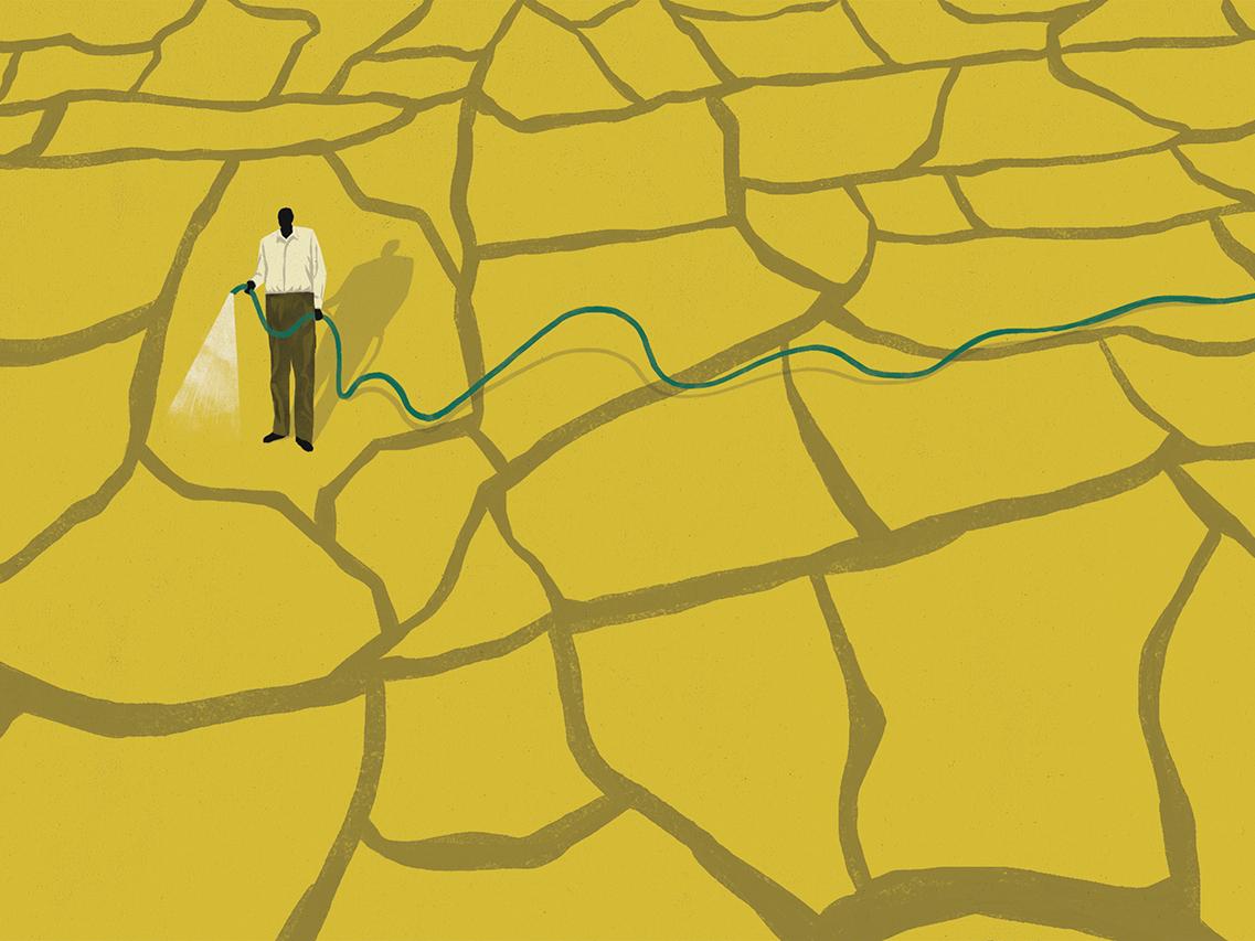 Winning with losses winner lonely desert editorial illustration editorial illustration money