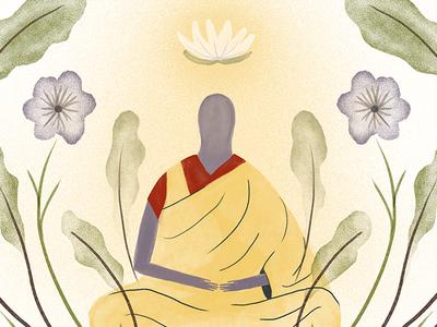 Shima photoshop religious religion monk buddhism illustration design illustration art illustration