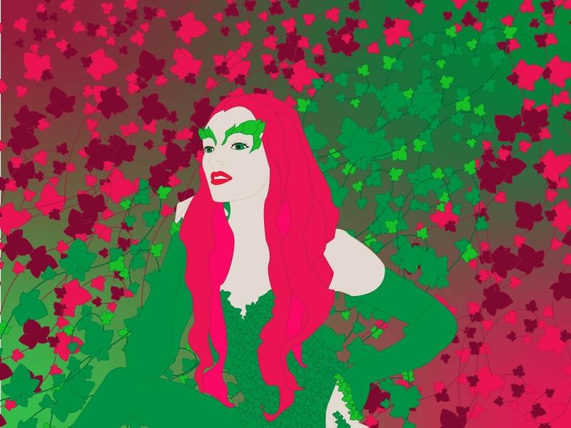 Poison Ivy vector art vector illustration poisonous plants comic art comic poison ivy poison illustration