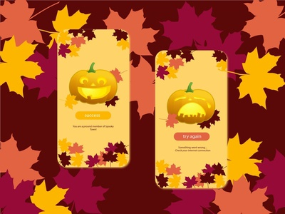 Flash Message 11 011 automn pumpkin ux uiux vector illustration daily 100 challenge screens ui design ui design