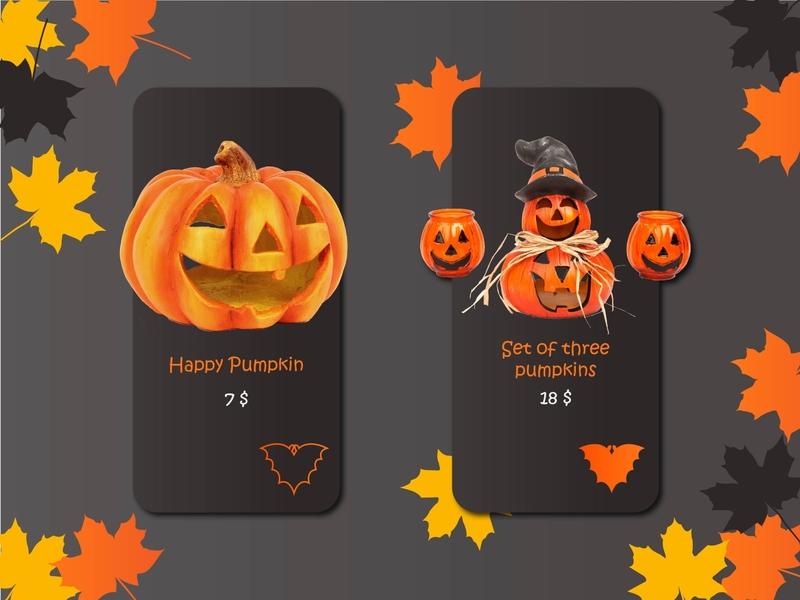 Pumpkin haloween pumpkin halloween pupkin 12 012 screens uiux ui illustration daily 100 challenge ui design design