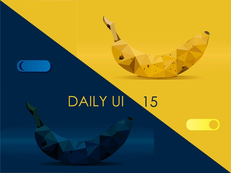 On/off switch off on switch bananas 015 15 illustration uiux daily 100 challenge screens ui design ui design