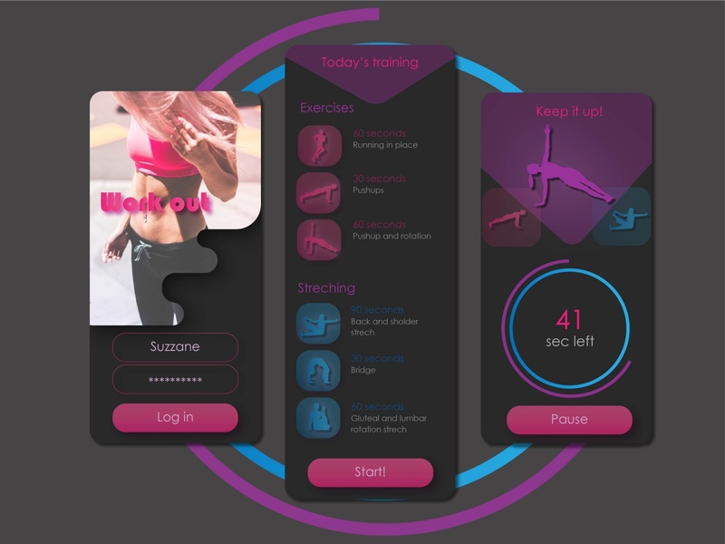 Workout Tracker 041 41 workout daily ui dailyui app ux illustration uiux daily 100 challenge ui design ui design