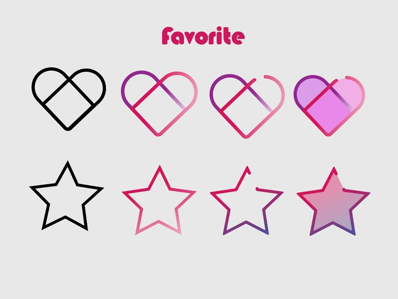 Icons icons heart favorite app daily ui dailyui ux uiux daily 100 challenge ui ui design design