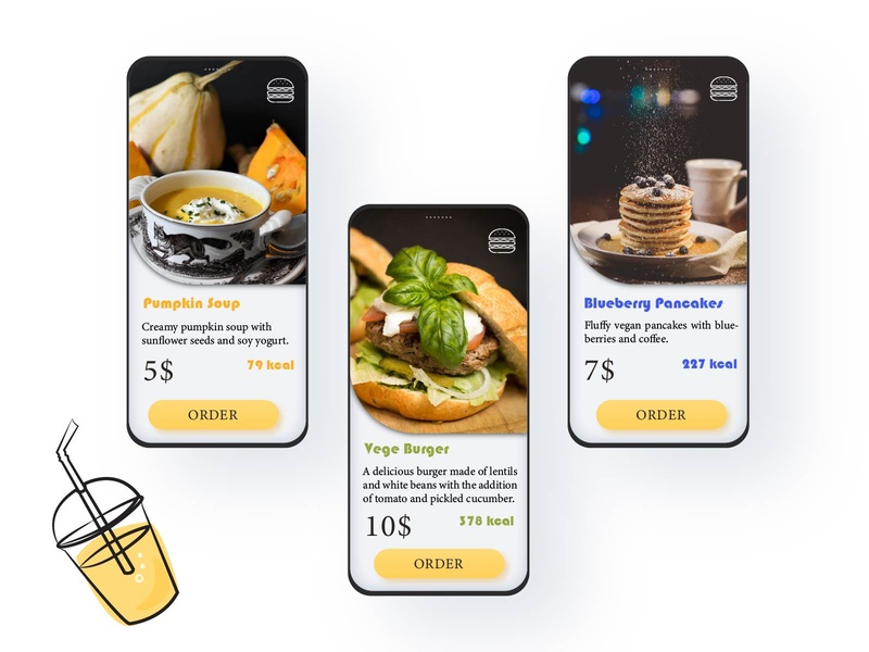 Food menu 043 43 meal food menu daily ui dailyui illustration ui uiux daily 100 challenge ui design design