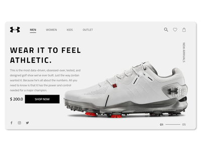 UNDER ARMOUR Landing Page shopping shoes running illustration landing page underarmour simple creative clean smart design ui ux