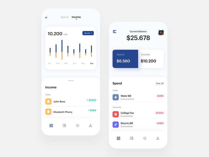 Budget Planner Mobile App banking finance app budget ios app clean mobile ui flat ux figma minimal dribbble uidesign design