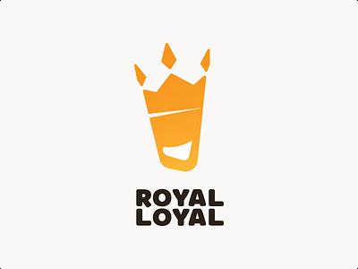 Royal Loyal logo crown vector adobe illustrator icon mark logo design branding logotype logo loyalty royal
