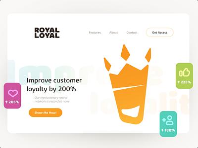 Royal Loyal website flat figma ui uiux web design website