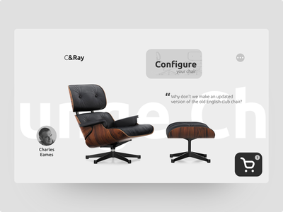 Dribbble Weekly Warm-Up | Lounge Chair page product page figma flat website design web ux dribbbleweeklywarmup