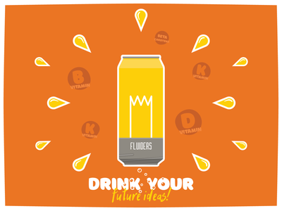 Fluid Ideas flat typography adobe illustrator vector soda dribbbleweeklywarmup