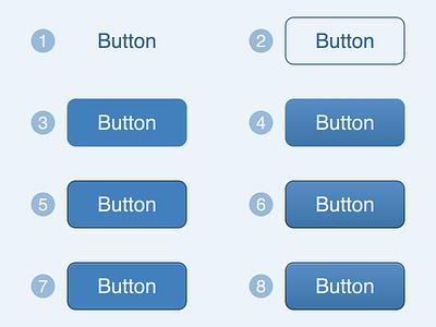 Button Exploration 1 skeuomorphic 3d 2.5d 2d flat button