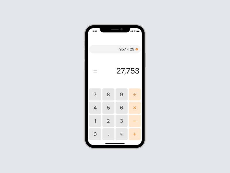 Calculator design ui iphone ios app