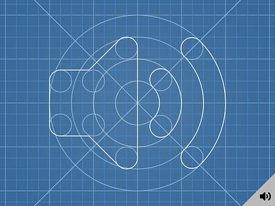 Sound Icon Construction process construction vector grid fx sound icon