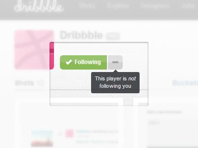 Is following