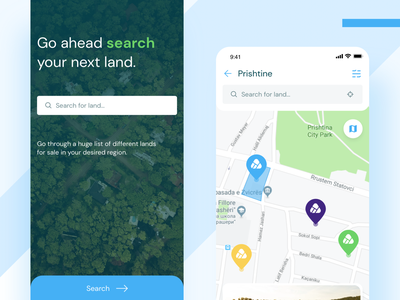 Ari - Buy and Sell Land marketplace land uiux ux ui app