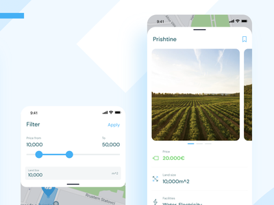 Ari, Buy and Sell Land - Filters & Detail for sale minimal simple clean land marketplace app uiux ux ui