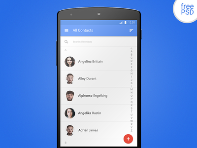 FREE PSD - Android Material Design
