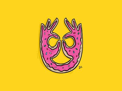 Donut digital art comic the simpsons illustration simpsons donut