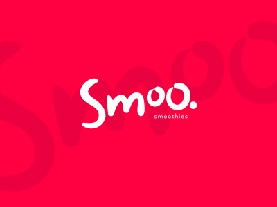 Smoo. handwritten funny simple clean identity brand cute logo smoothies